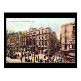 Old Postcard, Barcelona, Gran Teatro del Liceo Postcard