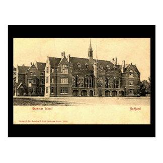 Old Postcard, Bedford Grammar School Postcard