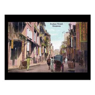 Old Postcard - Bonham Strand, Hong Kong