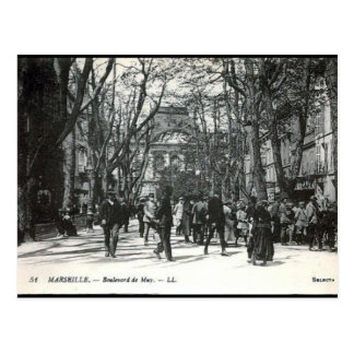 Old Postcard - Boulevard de Muy, Marseille