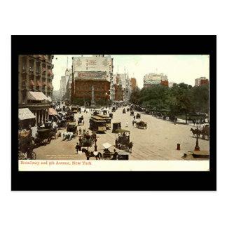 Old Postcard, Broadway & 5th Ave, New York City Postcard