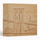 "Old Postcard Brooklyn Bridge 1.5"" Photo Album Binders"