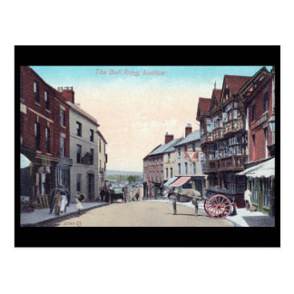 Old Postcard - Bull Ring, Ludlow, Shropshire