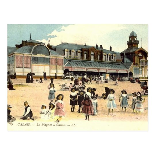 Old Postcard - Calais, Beach & Casino