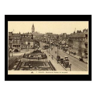 Old Postcard - Calais, Boulevards Pasteur & Jacqua