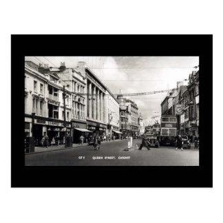 Old Postcard, Cardiff, Queen Street Postcard