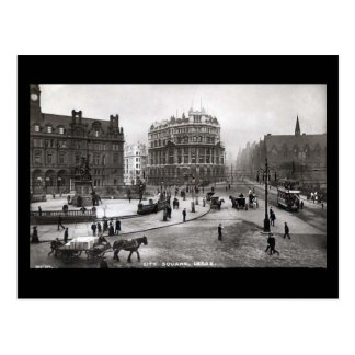 Old Postcard, City Square, Leeds Postcard
