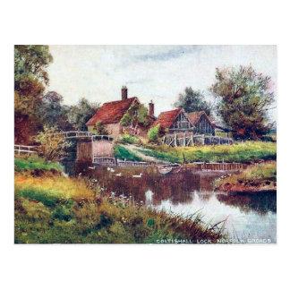 Old Postcard - Coltishall Lock, Norfolk Broads