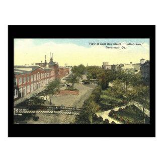 Old Postcard, Cotton Row, Savannah, Georgia Postcard