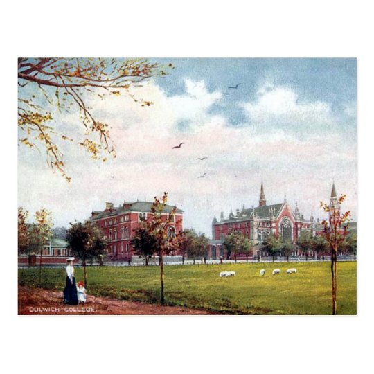 Old Postcard - Dulwich College, London