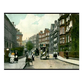 Old Postcard - Earls Court Rd, London