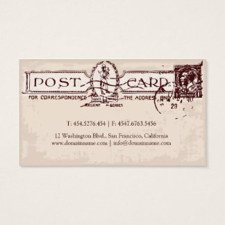 Old Postcard Ephemera Travel Agent / Blogger Business Card