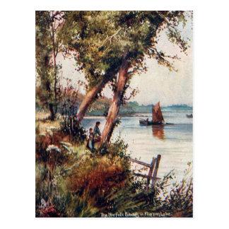 Old Postcard - Fritton Lake, Norfolk Broads
