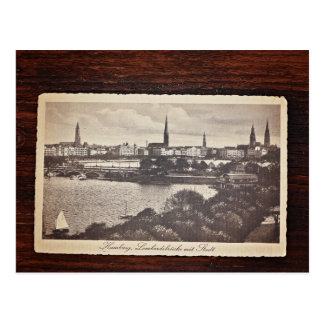 Old postcard from Hamburg, Germany