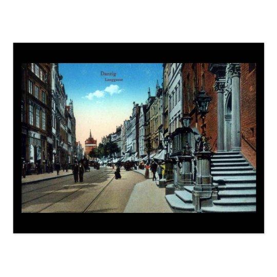 Old Postcard, Gdansk/Danzig, Langgasse Postcard