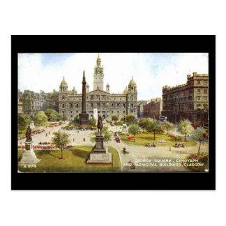 Old Postcard, Glasgow, George Square Postcard