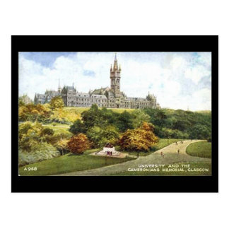 Old Postcard, Glasgow University Postcard