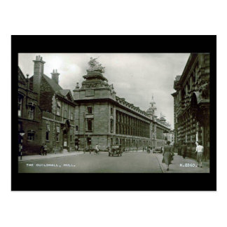 Old Postcard - Guildhall, Hull, Yorkshire