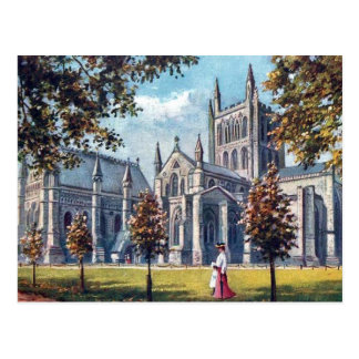 Old Postcard - Hereford Cathedral