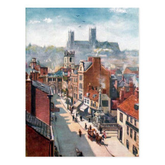 Old Postcard - High St, Lincoln