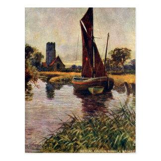Old Postcard - Instead Church, Norfolk Broads