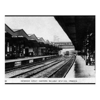 Old Postcard - Ipswich Railway Station