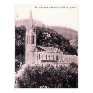 Old Postcard - La Basilique, Lourdes