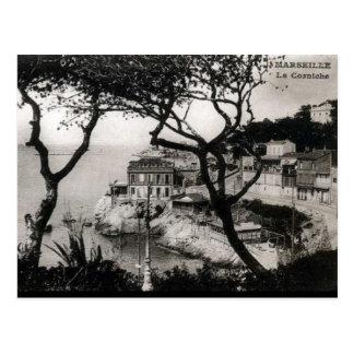 Old Postcard - La Corniche, Marseille
