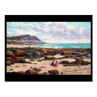 Old Postcard - Langland Bay, near Swansea