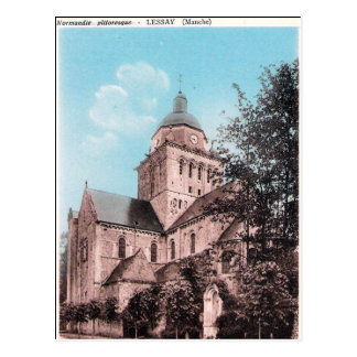 Old Postcard - Lessay, Manche, Normandie