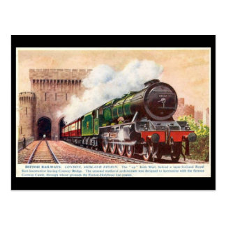 Old Postcard - LMS Irish Mail