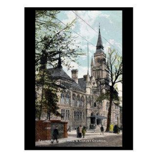 Old Postcard, London, Ealing, Victoria Hall Postcard