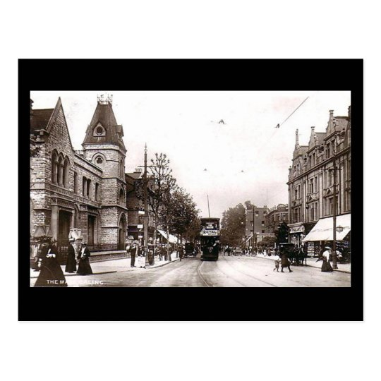 Old Postcard, London, The Mall, Ealing Postcard