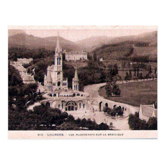 Old Postcard - Lourdes, La Basilique