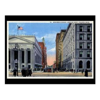 Old Postcard - Madison Ave, Toledo, Ohio
