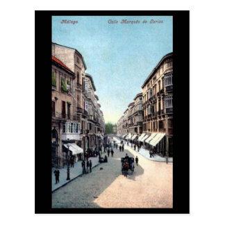 Old Postcard - Malaga, Spain.
