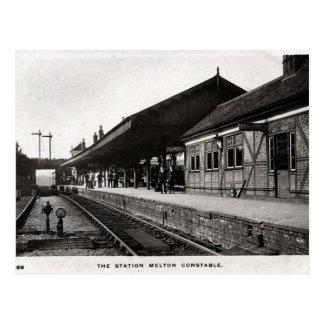 Old Postcard - Melton Constable Station, Norfolk