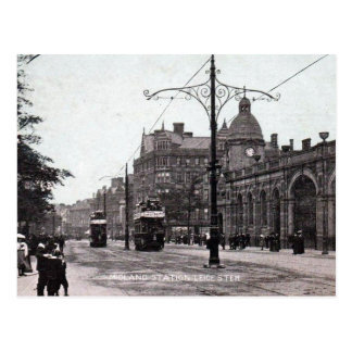 Old Postcard - Midland Station, Leicester