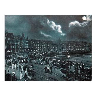 Old Postcard - Moonlight, Douglas, Isle of Man