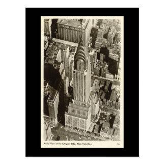 Old Postcard, New York City, Chrysler Building Postcard