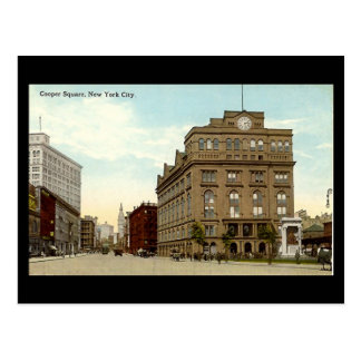 Old Postcard, New York City, Cooper Square Postcard