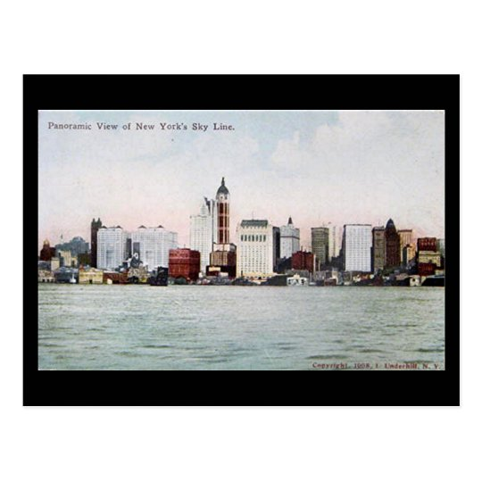 Old Postcard - New York City Skyline