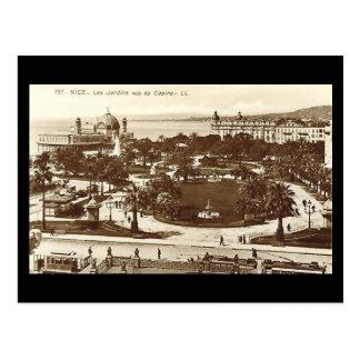 Old Postcard, Nice, Jardins Postcard