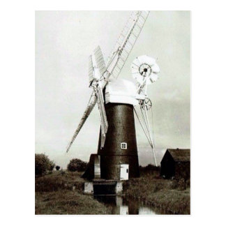 Old Postcard - Norfolk Windmill