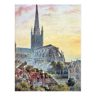 Old Postcard - Norwich Cathedral, Norfolk