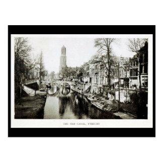 Old Postcard - Old Canal, Utrecht, Netherlands