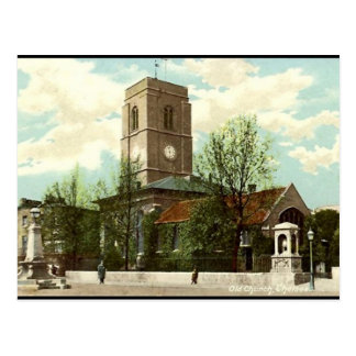 Old Postcard - Old Church, Chelsea, London