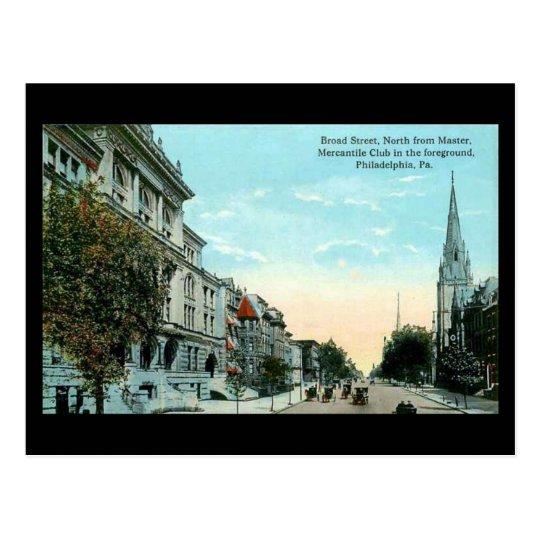 Old Postcard - Philadelphia, Broad Street