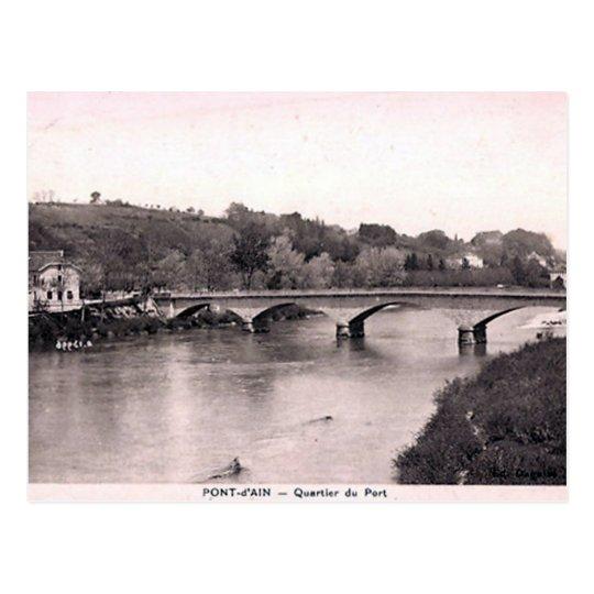 Old Postcard - Pont d'Ain, Ain, France