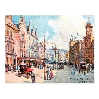 Old Postcard - Queen Street, Auckland, New Zealand